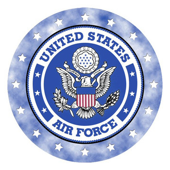 United States Air Force Absorbent Round Beverage Coasters, Set of 8