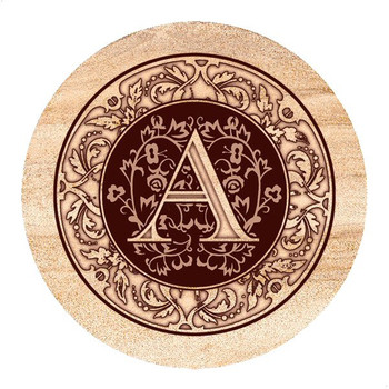 Monogram A Sandstone Beverage Coasters, Set of 4