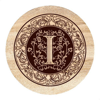 Monogram I Sandstone Beverage Coasters, Set of 4