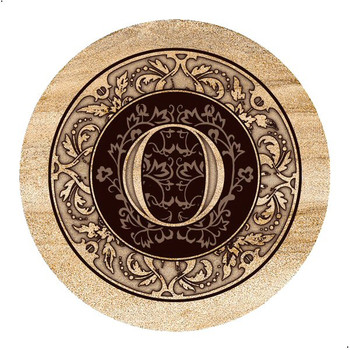 Monogram O Sandstone Beverage Coasters, Set of 4