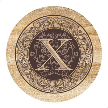 Monogram X Sandstone Beverage Coasters, Set of 4