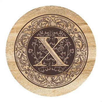 Monogram X Sandstone Beverage Coasters, Set of 4