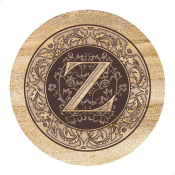 Monogram Z Sandstone Beverage Coasters, Set of 4