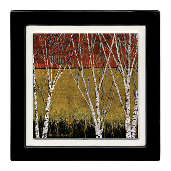 Autumn Birches II Beverage Coasters, Set of 8