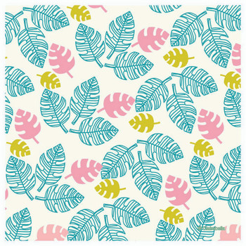 Tropical Leaves Celebrations Palm Beverage Coasters, Set of 12