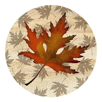 Maple Leaf Sandstone Beverage Coasters, Set of 8