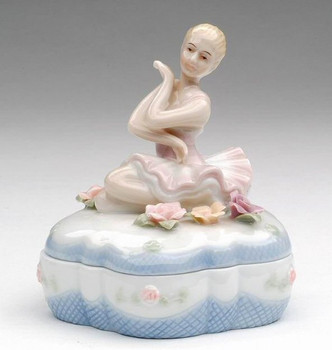 Ballerina Porcelain Diamond Box