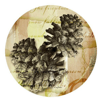 Whispering Pines Pinecone Coasters by Denise Sullivan, Set of 8