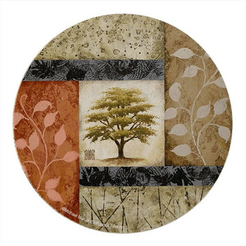 New Growth Tree Sandstone Round Coasters by Michael Marconi, Set of 8