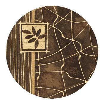 Natural Lines Sandstone Round Coasters by Wild Apple Studio, Set of 8
