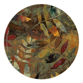 Autumn Soul II Sandstone Beverage Coasters by Color Bakery, Set of 8