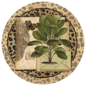 Animal Palm Round Beverage Coasters by Kate Ward Thacker, Set of 12