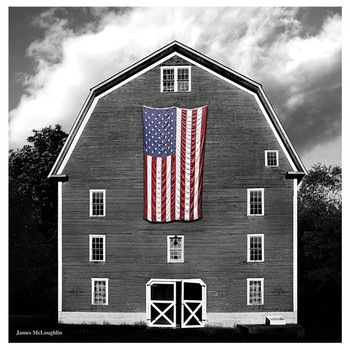 Farmhouse Flag Absorbent Coasters by James McLoughlin, Set of 8