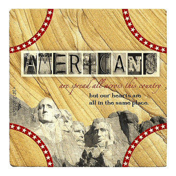 Americans Sandstone Beverage Coasters by Jan Shade Beach, Set of 6