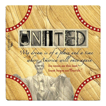 United Sandstone Beverage Coasters by Jan Shade Beach, Set of 6