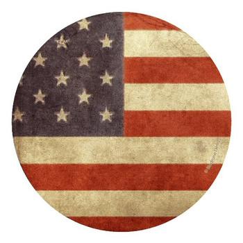 American Flag II Sandstone Beverage Coasters, Set of 8