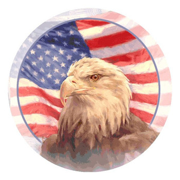 Independence American Flag and Bald Eagle Beverage Coasters, Set of 8