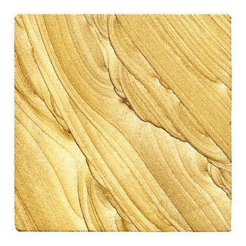 Natural Stone Sandstone Beverage Coasters, Set of 8