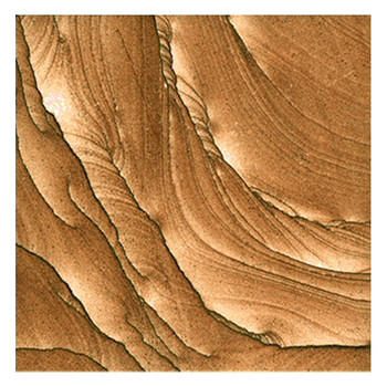 Plain Cinnabar Sandstone Beverage Coasters, Set of 8