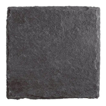 Plain Natural Slate Beverage Coasters, Set of 8