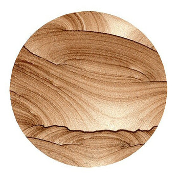 Cinnabar Sandstone Round Beverage Coasters, Set of 8