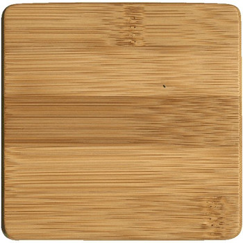 Natural Bamboo Beverage Coasters, Set of 8