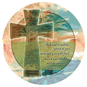 Ask & it Will Be Given Beverage Coasters by D. Sullivan, Set of 8