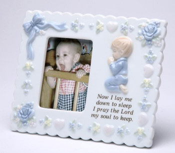 Baby Boy Porcelain Picture Frame