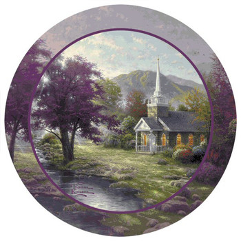 Streams of Living Water Beverage Coasters by Thomas Kinkade, Set of 8
