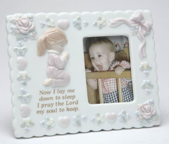 Baby Girl Porcelain Picture Frame