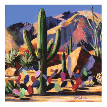 Catalina Magic Cactus Beverage Coasters by Diana Madaras, Set of 8