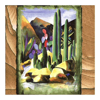 By the Creekside Sandstone Coasters by Diane Madaras, Set of 8