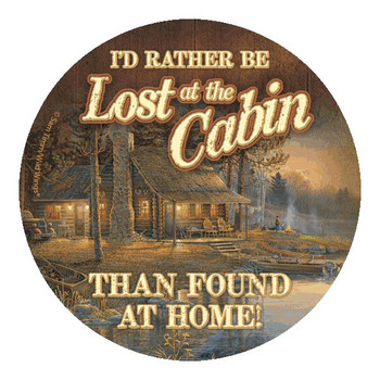 I'd Rather Be Lost at the Cabin Than Coasters by Sam Timm, Set of 8