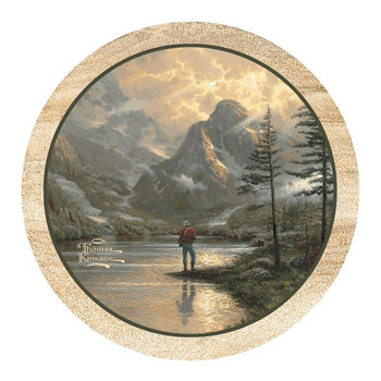 Almost Heaven Sandstone Beverage Coasters by Thomas Kinkade, Set of 8
