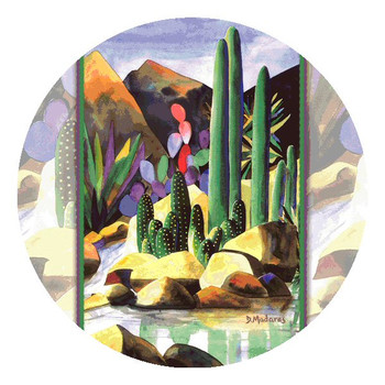 By the Creek Side Round Beverage Coasters by Diana Madaras, Set of 8