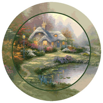 Everett's Cottage Beverage Coasters by Thomas Kinkade, Set of 8