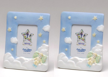 Baby on Cloud Porcelain Picture Frame, Set of 2