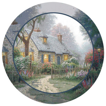 Foxglove Cottage Beverage Coasters by Thomas Kinkade, Set of 8