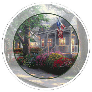Hometown Pride Absorbent Beverage Coasters by Thomas Kinkade, Set of 8