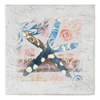 Star Fish Beverage Coasters, Set of 8