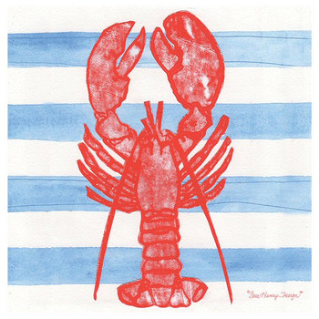 Lobster Absorbent Beverage Coasters by Sara Henry, Set of 8