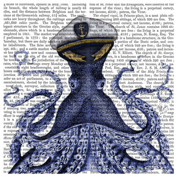 Captain Octopus Print Absorbent Beverage Coasters, Set of 12