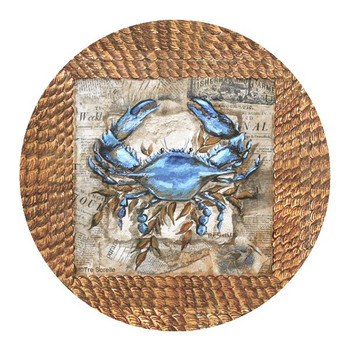 Clam Bake Accent Sandstone Coasters by Tre Sorelle Studios, Set of 8