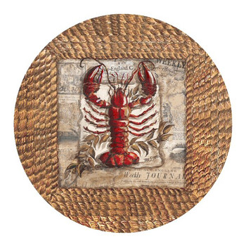 Lobster Sandstone Beverage Coasters by Tre Sorelle Studios, Set of 8