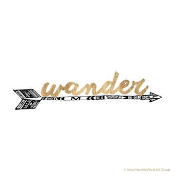 Wander Arrow Golden Quote Absorbent Beverage Coasters, Set of 12