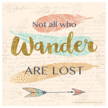 Not All Who Wander Are Lost Arrow Beverage Coasters, Set of 12