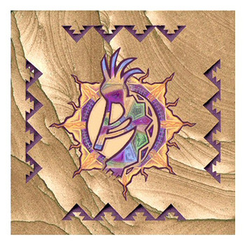Southwest Sun Dancer Cinnabar Sandstone Beverage Coasters, Set of 8