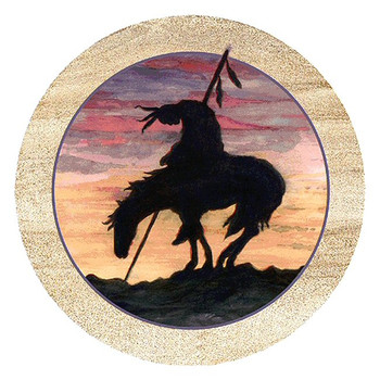 End of the Trail Sandstone Round Beverage Coasters, Set of 8