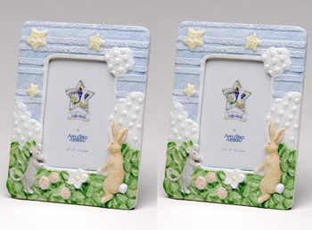 Rabbit and Mouse Porcelain Picture Frame, Set of 2