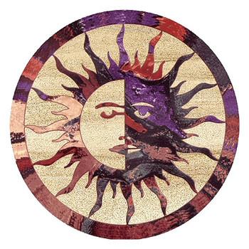 Sun Moon Sandstone Round Beverage Coasters, Set of 8